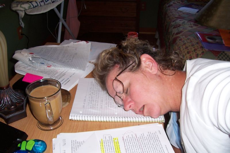 studying for tests is a tough business ... photo by CC user barbanddean on Flickr