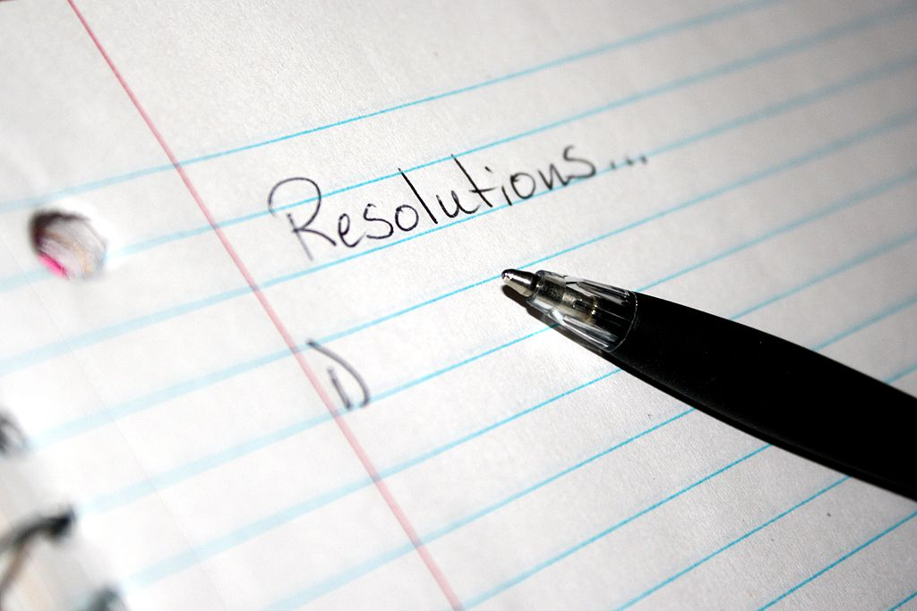 New Year's resolutions are hard to make, and even harder to keep ... photo by CC user Photos public domain.com